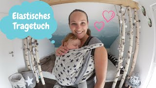 Elastisches Tragetuch |Bindeanleitung |Babys tragen |Kathis Daily Life