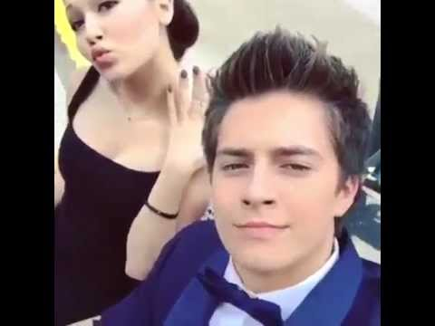 Kelli Berglund with Billy Unger and Spencer Boldman in the Lab Rats Bionic Island set!