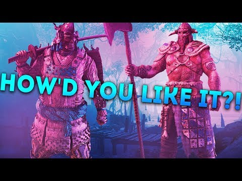 For Honor DEDICATED SERVERS! - KENSEI vs RAIDER - HOW'D YOU LIKE IT?!