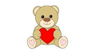 Рисуем плюшевого мишку с сердечком / Drawing bear with heart