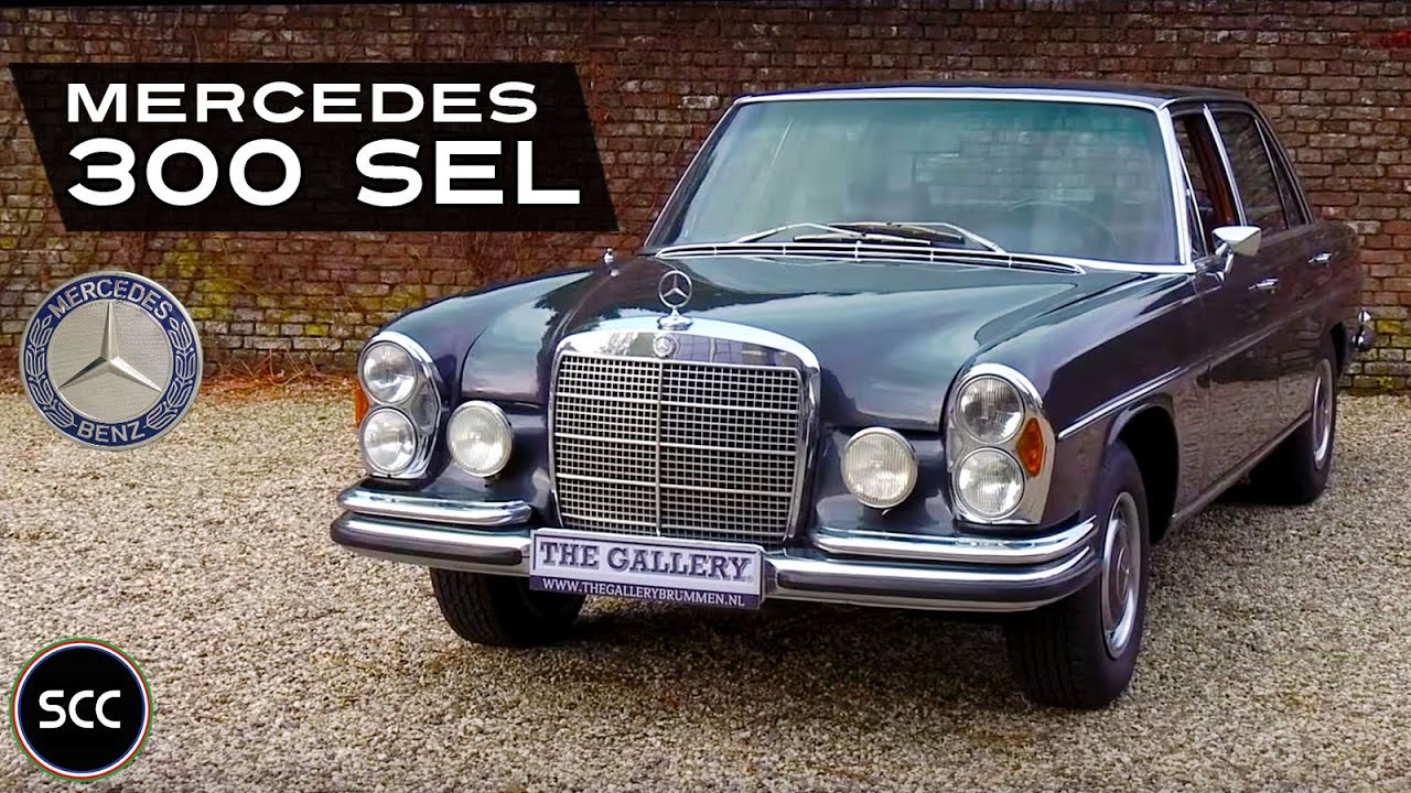 mercedes benz 300 sel 6 3 automatic 1971 small test drive scc tv youtube. Black Bedroom Furniture Sets. Home Design Ideas