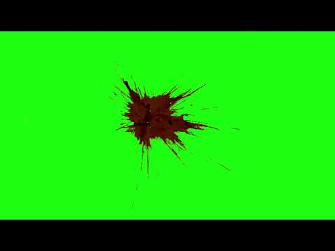 Real Blood Burst on gun Shot Collection   [HD] Green Screen part 2