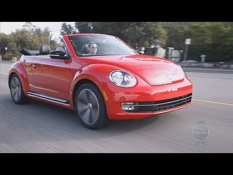 Volkswagen Beetle Convertible >> 2014 VW Beetle Convertible - Review and Road Test - YouTube