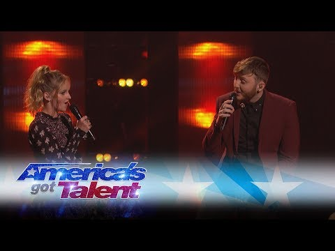 Evie Clair and James Arthur Sing A Stunning Duet - America's Got Talent 2017