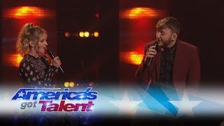 Evie Clair and James Arthur Sing A Stunning Duet - America's Got Talent 2017