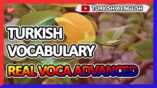 Learn Turkish |Part 7: Turkish Vocabulary Real Voca Advanced | Golearn