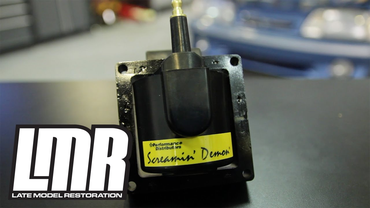 small resolution of  84 95 mustang ignition coil install screamin demon ignition coil by performance distributors youtube