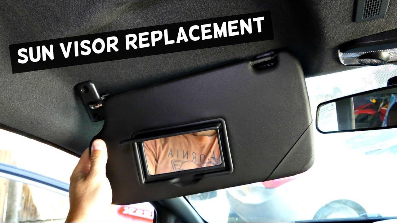 hight resolution of audi wiring visor lamp how to replace sun visor sun visor removal youtubesun visor removal