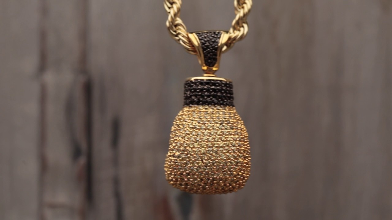 The 14k gold boxing glove necklace hip hop pendants king ice the 14k gold boxing glove necklace hip hop pendants king ice aloadofball Images