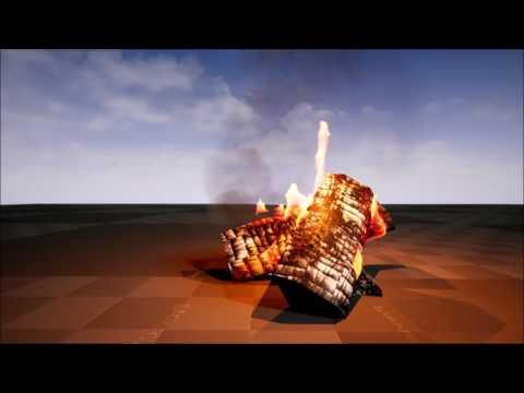 fire vertexanimation houdini&unreal