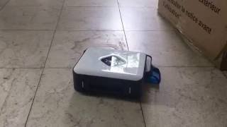 Irobot Braava 390T quick muddy floor test
