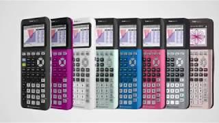 TI 84 Plus CE graphing calculator in 9 fun, bold colors