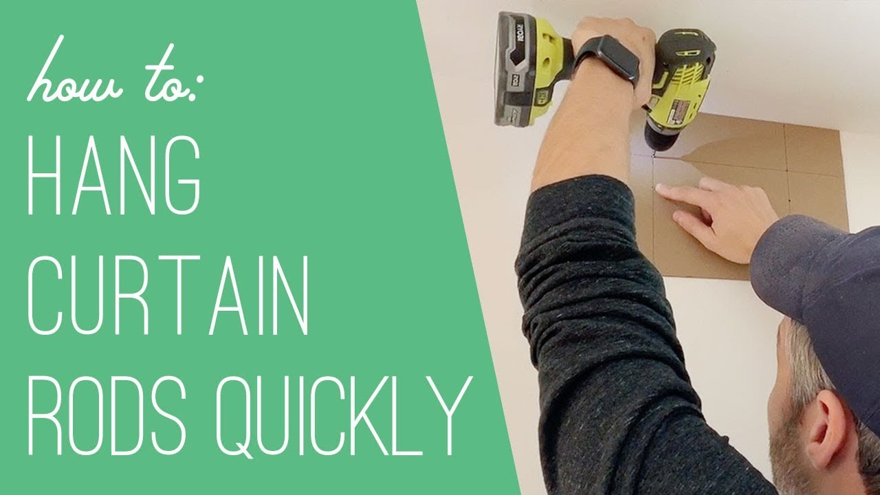 a trick for hanging curtain rods faster