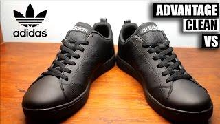 adidas advantage clean vs black on black