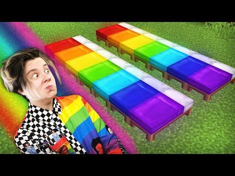 Радужный бед варс челлендж в майнкрафт!