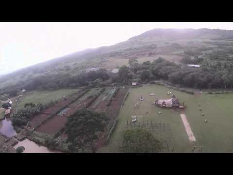 Zip line in Mauritius.