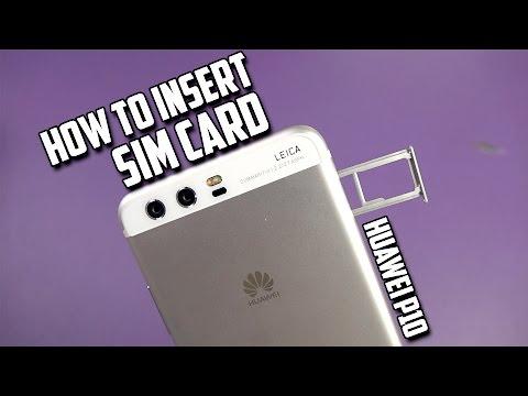 Huawei P10 Dual SIM How to insert the SIM card