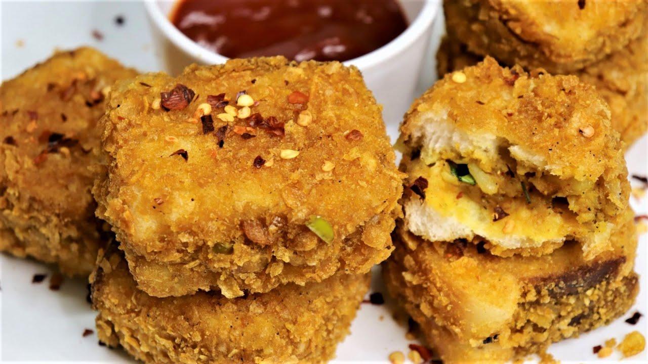 ब्रेड पकोड़ा बनाने की विधि   crunchy Bread Pakoda Recipe   aloo stuffed bread pakora