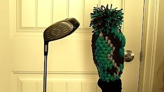 Crochet golf club covers