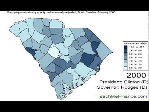 South Carolina Unemployment  Map