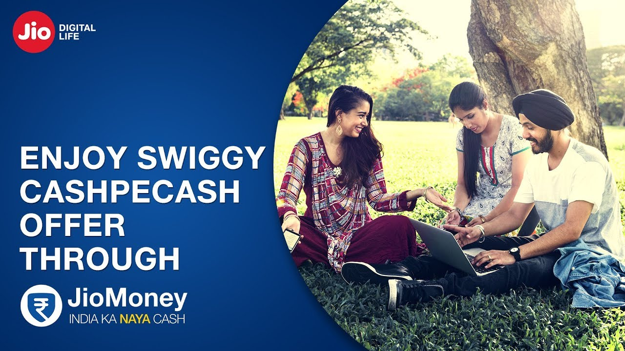 Now use your JioMoney app to get flat Rs.50 Cashback on Swiggy