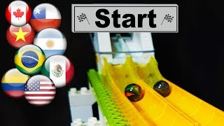 Marble Race: World Tournament of Marbles with Labyrinth and Funnels