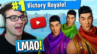 FORTNITE JAPANESE SQUAD FINDS OUT IM A YOUTUBER! (FORTNITE SQUAD FUNNY MOMENTS)