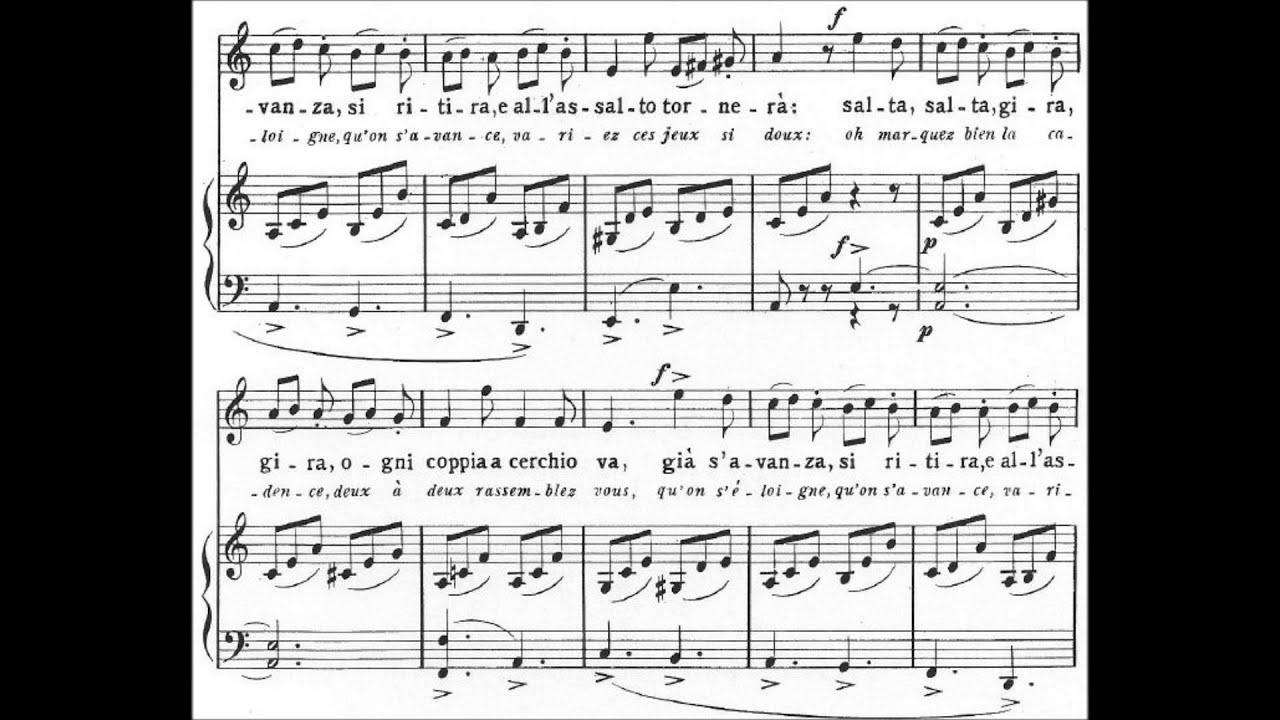 Gioachino Rossini - La Danza (audio + sheet music) - YouTube