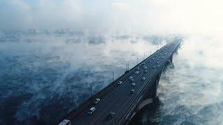 Без фильтров и спецэффектов: туман над Енисеем