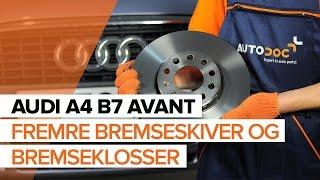 Fjerne Bremsekloss AUDI - videoguide