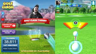 Golf Clash tips, Playthrough, Hole 1-9 - ROOKIE - Tropic Kings Tournament!