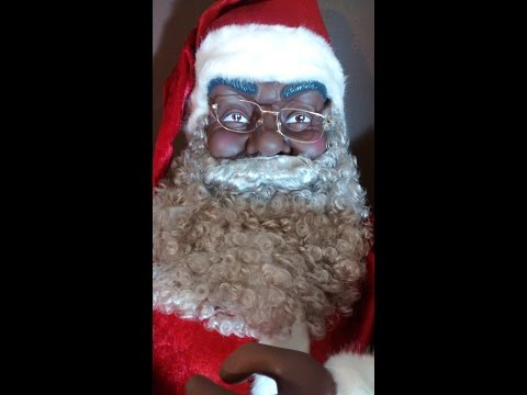 2014 Have A Jolly Christmas - Animated Singing African American Black Santa Claus