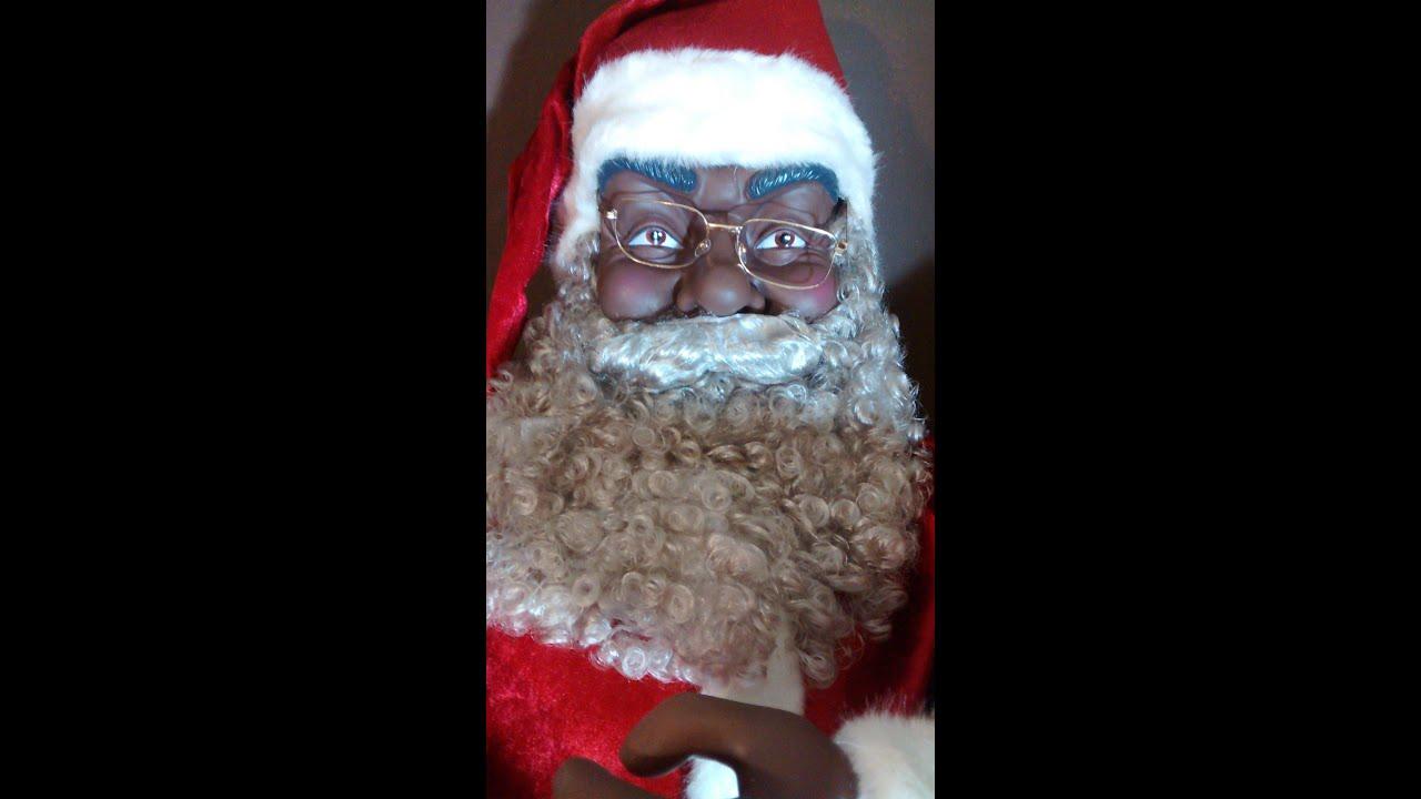 Sexy black santa claus