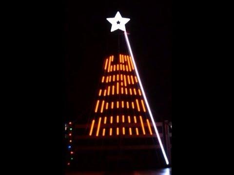 Musical Christmas light show to Christmas Eve Sarajevo for 12 CCR tree
