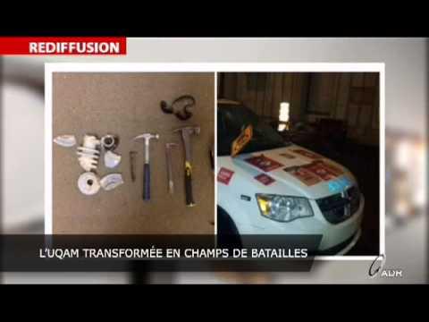 Manifs à l'UQAM - Stéphane Gendron s'enflamme!