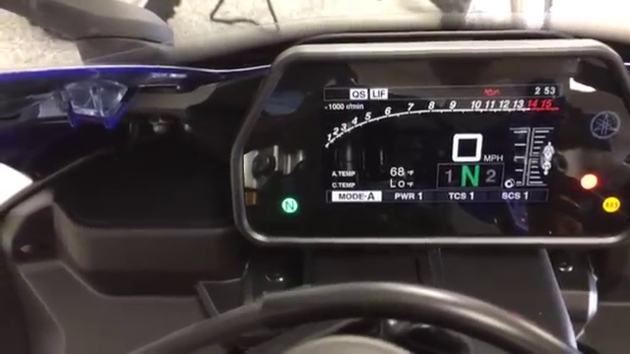 2015 Yamaha Yzf R1 Dash Function In Silver And Blue Yamaha Of Knoxville