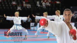 Kata Team Germany female in Linz 2016 (1st round Kata Kanku Sho)
