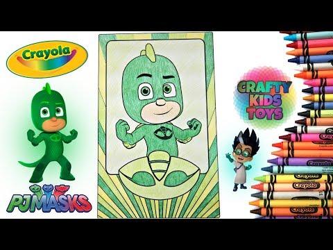 Gekko PJ Masks Disney Jr Crayola GIANT Coloring Pages Green Greg
