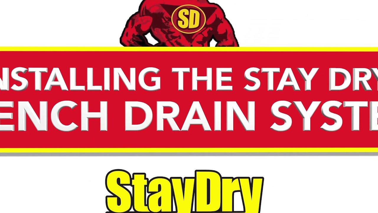 French Drain Installation StayDry Michigan Basement