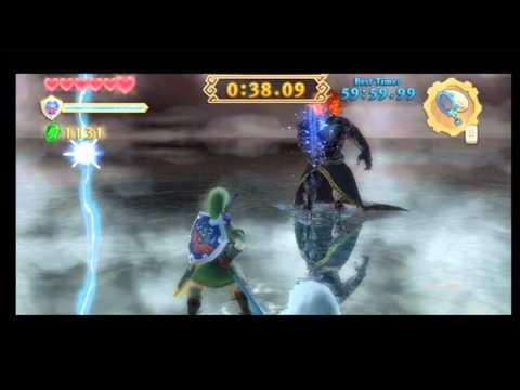 Zelda Skyward Sword Fighting Demise with the Bug Net