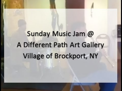 Sunday Music Jam @ A Different Path Gallery, Village of Brockport, NY
