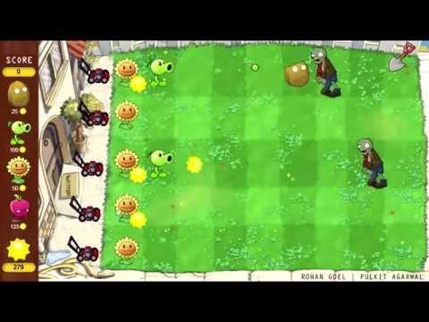 Plants Vs Zombies In JAVA | Greenfoot Fan Game Demo