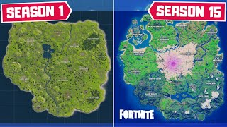 Evolution of The Entire Fortnite Map! (Chapter 1 Season 1 - Chapter 2 Season 5)