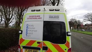 Blocking speed camera van, until police turn up!!