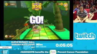 Super Monkey Ball: Banana Blitz by Miles in 52:10 - Awesome Games Done Quick 2016 - Part 3