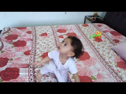Baby 2 Years Old Jumping On The Bed
