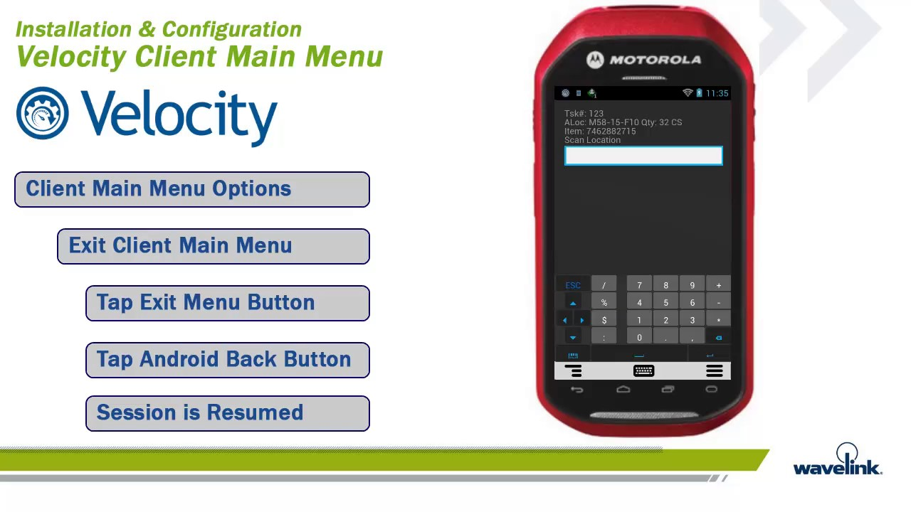 Wavelink Velocity Android Client - 3_11 - Advanced Client Tools