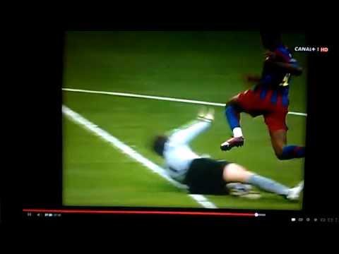 Penal de Jens Lehmann v Barcelona. Final Champions. Roja directa