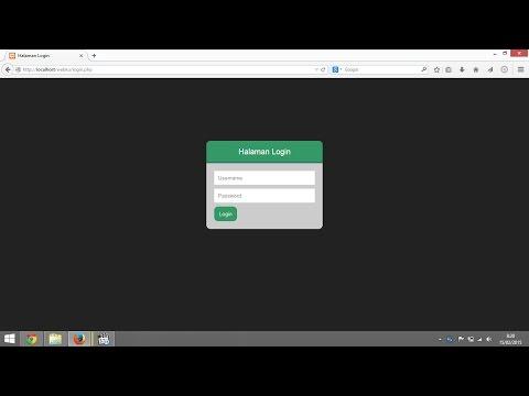 Membuat Aplikasi Login Dengan Php