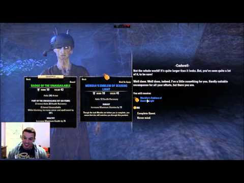 ESO Cadwells Gold...THE END TO ALL STORY QUESTS